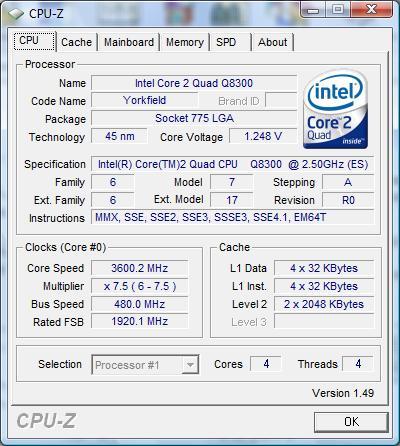 Что купить двух или четырех ядерный? Обзор процессора Intel Q8300 на ядре Yorkfield.