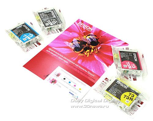 Epson Stylus Office TX600FW. Чернильные картриджи из комплекта поставки