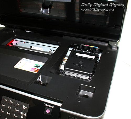 Epson Stylus Office TX600FW. Блок картриджей с закрытой крышкой
