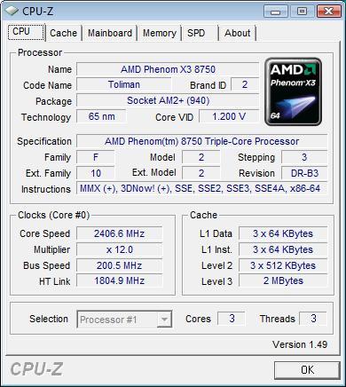 ASUS M3A78-T штатная частота