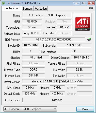 ASUS M3A78-T разгон GPU