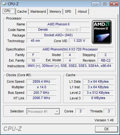 ASUS M4A79T Deluxe  штатная частота