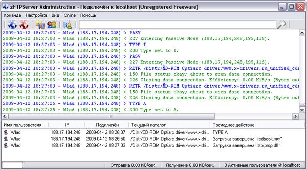 ZFTPServer Suite включает два модуля, один из которых работает как FTP-серв