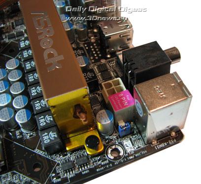 ASRock X58 Deluxe доп. разъем питания