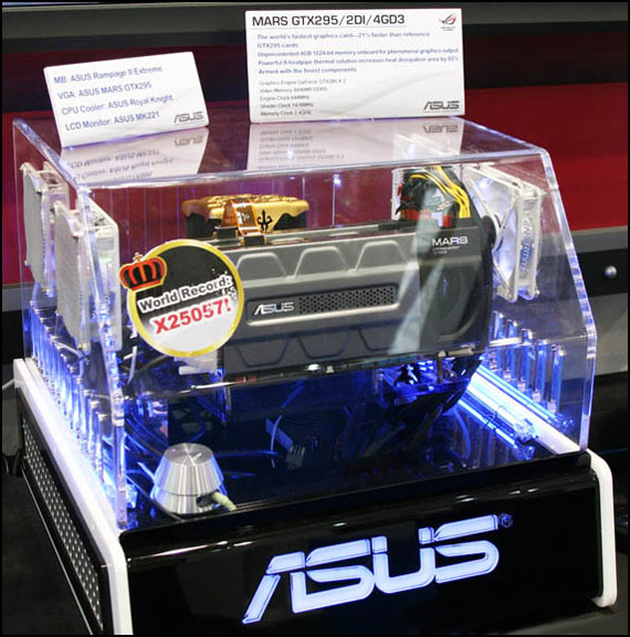 ASUS MARS GTX295/2DI/4GD3