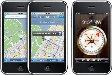 Навигация и цифровой компас в iPhone 3GS