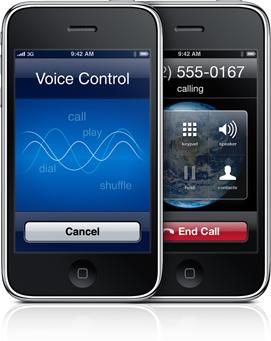 Голосовые команды в iPhone 3GS