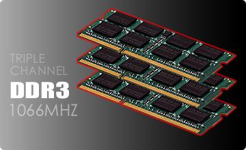 Triple-Channel DDR3 System Memory