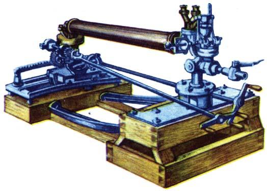 Модель паровой пушки Карелина
