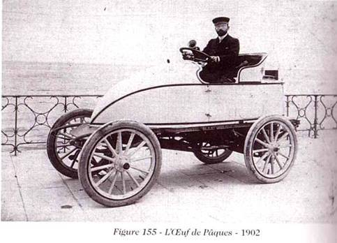Гоночный паровой автомобиль Серполле