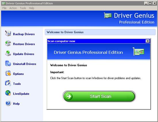 Driver Genius Professional 2009 9.0.0.186: быстрая загрузка драйверов