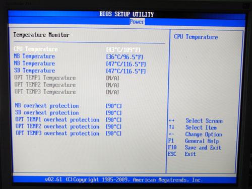 ASUS Maximus II Gene системный мониторинг