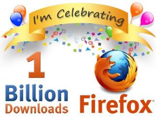 Firefox celebrating