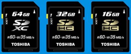 новые карты памяти Toshiba