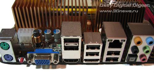 Elitegroup A790GXM-AD3 задняя панель