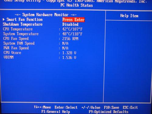 Elitegroup A790GXM-AD3 системный мониторинг