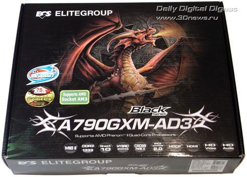 Elitegroup A790GXM-AD3 коробка