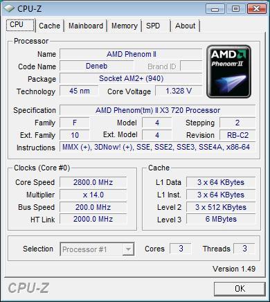 Elitegroup A790GXM-AD3 штатная частота