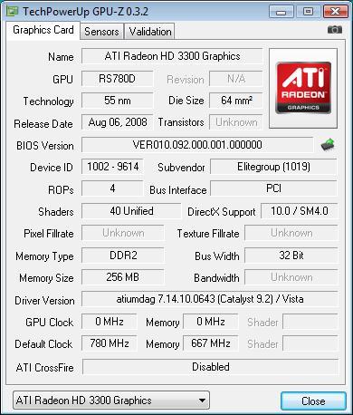 Elitegroup A790GXM-AD3 разгон встроенного ядра