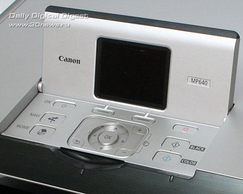Canon PIXMA MP640. Панель управления и дисплей