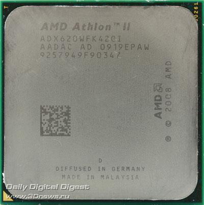 AMD Athlon II X4 620 вид сверху