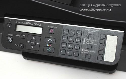 Epson Stylus Office TX300F. Панель управления