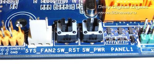 Biostar TA785GE-128M кнопки