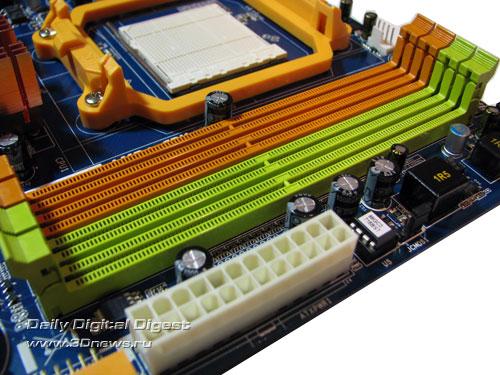 Biostar TA785GE-128M слоты DIMM