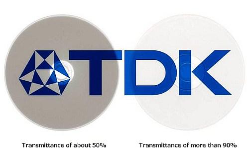 Прозрачность внешнего слоя нового диска TDK - 90%