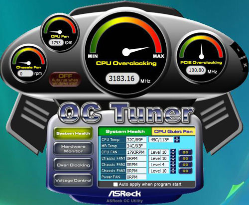 ASRock P55 Extreme OC Tuner