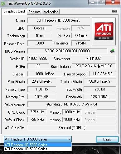 Технические характеристики и фотографии Radeon HD 5970