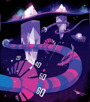 Температуру ледников измерят 50-км градусником