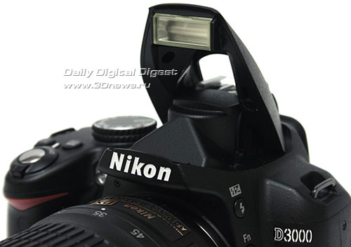 Nikon D3000. Вспышка
