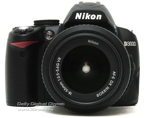 Nikon D3000. Вид спереди
