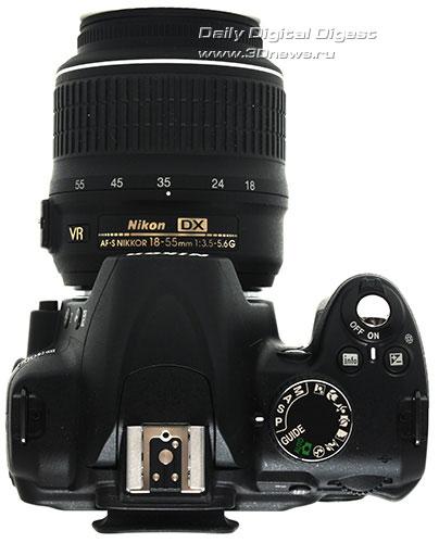 Nikon D3000. Вид сверху