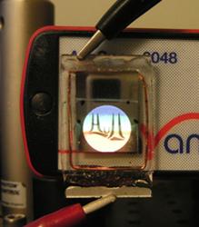 Прототип дисплея с жидкими излучающими кристаллами
