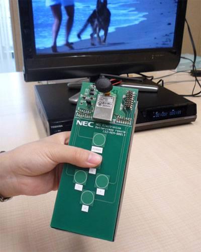 Японские компании NEC и Soundpower представили пульт ДУ без батареек.