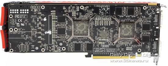 Sapphire Radeon HD 5970 обратная сторона платы