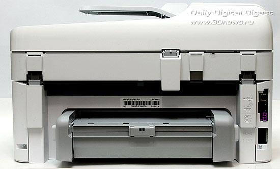 HP Photosmart Premium c309a. Вид сзади. Модуль двусторонней печати установлен
