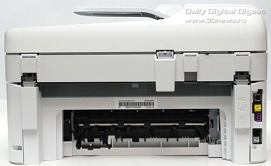 HP Photosmart Premium c309a. Вид сзади. Модуль двусторонней печати отстегнут