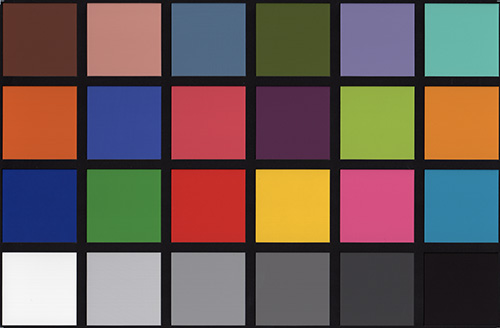 HP Photosmart Premium c309a.  калибровочная таблица Munsell Color Checker