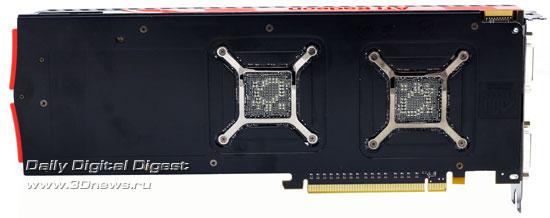 Обратная сторона видеокарты Sapphire Radeon HD 5970
