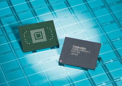Интегральные микросхемы Toshiba объемом 64 Гб