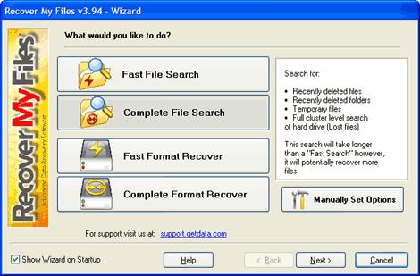 Recover My Files 4.4.8: восстановление файлов