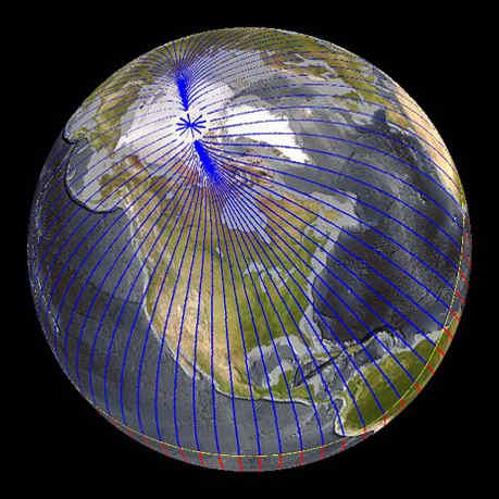 Магнитный полюс двигается от Канады к Сибири