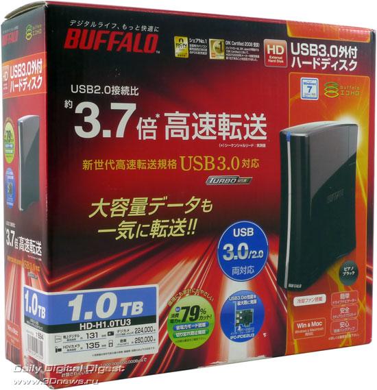 Buffalo HD-HX1.0TU3 - внешний диск с интерфейсом USB 3.0