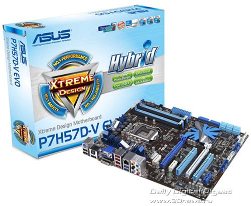 Материнская плата Asus P7H57D-V EVO.  Intel LGA1156 / чипсет Intel H57...