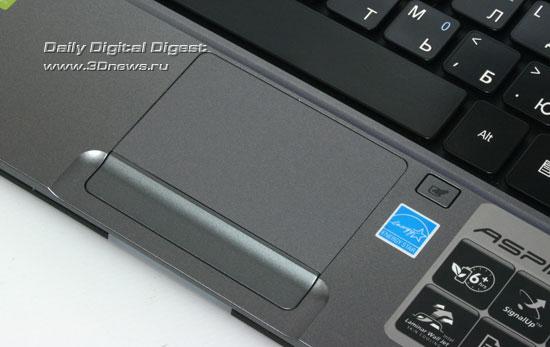 Acer Aspire As3410. Сенсорная панель и индикаторы состояния