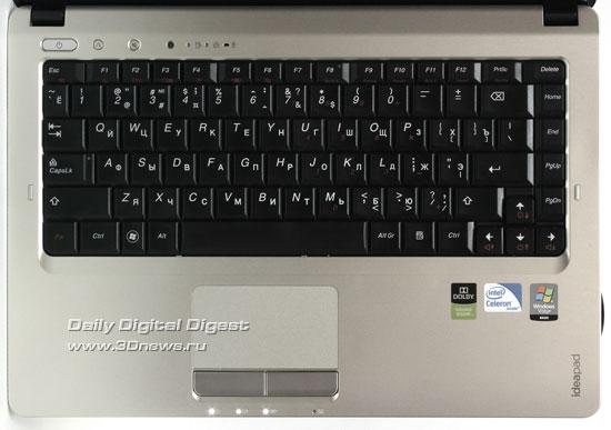 Lenovo IdeaPad U350. Клавиатура
