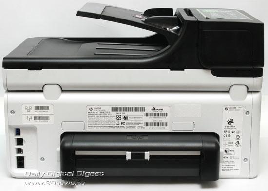 HP Officejet Pro 8500 Wireless (a909g). Вид сзади. Модуль  двухсторонней печати установлен